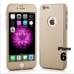 iPhone 6 Case (Gold): Free Tempered Glass